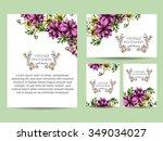 romantic invitation. wedding ... | Shutterstock . vector #349034027