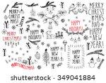 hand drawn doodle vector... | Shutterstock .eps vector #349041884
