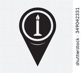 map pin pointer candle icon | Shutterstock .eps vector #349042331