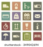 delivery label icons for web | Shutterstock .eps vector #349042694
