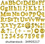 abc  full alphabet of... | Shutterstock . vector #34905217