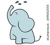 vector cartoon baby elephant... | Shutterstock .eps vector #349052555