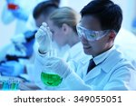 young medical technicians... | Shutterstock . vector #349055051