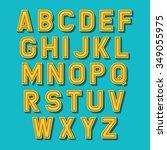 vector alphabet set. retro font | Shutterstock .eps vector #349055975