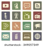 media label icons for web | Shutterstock .eps vector #349057349