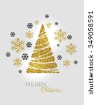 vector illustration gold... | Shutterstock .eps vector #349058591