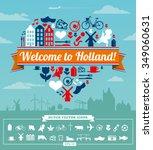 holland dutch vector set | Shutterstock .eps vector #349060631
