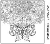 Butterfly And Floral Mandala....