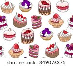 seamless pattern wit different... | Shutterstock .eps vector #349076375