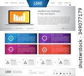 clean   modern business website ... | Shutterstock .eps vector #349077179