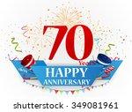 happy anniversary celebration... | Shutterstock .eps vector #349081961