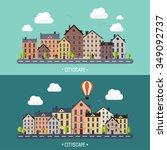 vector illustration. city...   Shutterstock .eps vector #349092737