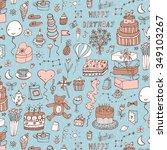 happy birthday pattern | Shutterstock .eps vector #349103267