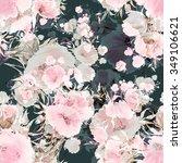 seamless pattern watercolor... | Shutterstock . vector #349106621