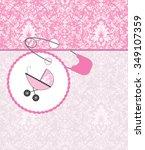 vintage baby shower invitation... | Shutterstock .eps vector #349107359