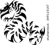 abstract dragon crawling   Shutterstock .eps vector #349115147