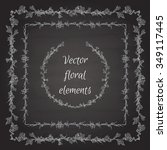 vector floral elements  borders ... | Shutterstock .eps vector #349117445