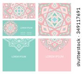 boho style postcard with ethnic ... | Shutterstock .eps vector #349117691