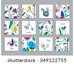 collection of unusual cards... | Shutterstock .eps vector #349122755