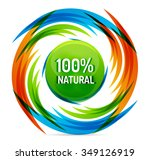 green eco concept   100... | Shutterstock .eps vector #349126919