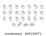 touch screen gestures icons set.... | Shutterstock .eps vector #349130471