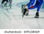 legs male skaters during warm... | Shutterstock . vector #349138469