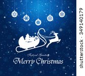 vintage christmas card with...   Shutterstock .eps vector #349140179