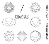 the seven chakras  set style... | Shutterstock . vector #349144589