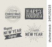 merry christmas and happy new... | Shutterstock .eps vector #349150235