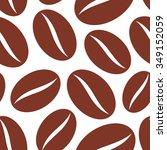 coffee beans seamless vector...   Shutterstock .eps vector #349152059