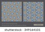 set of ornamental backgrounds.... | Shutterstock .eps vector #349164101