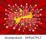 special offer  wording in comic ... | Shutterstock .eps vector #349167917