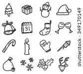 objects or icons set   cartoon... | Shutterstock .eps vector #349170149