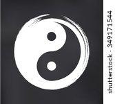 vector yin yang in a zen circle ... | Shutterstock .eps vector #349171544