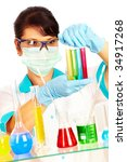 young scientist in laboratory... | Shutterstock . vector #34917268