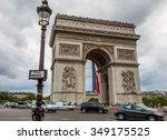 paris  france july 21  arc de... | Shutterstock . vector #349175525