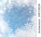 blue christmas background | Shutterstock . vector #349178234