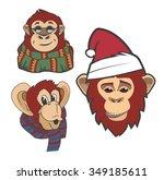 monkey | Shutterstock .eps vector #349185611