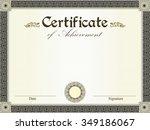 vintage certificate of...   Shutterstock .eps vector #349186067