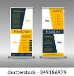 roll up banner abstract... | Shutterstock .eps vector #349186979