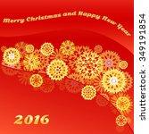 vector christmas snowflake... | Shutterstock .eps vector #349191854