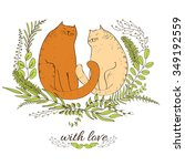 Cats And Love. Two Cats With...