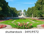 Saxon Garden In Warsaw  Poland