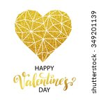 valentines day love greeting... | Shutterstock .eps vector #349201139