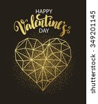 valentines day love greeting... | Shutterstock .eps vector #349201145