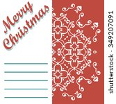 christmas greeting card and... | Shutterstock .eps vector #349207091