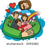 jesus and my family | Shutterstock .eps vector #3492082