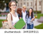 education  campus  friendship... | Shutterstock . vector #349209311