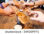 fast food  junk food  unhealthy ... | Shutterstock . vector #349209971
