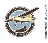 aviation badge in retro style | Shutterstock .eps vector #349212779